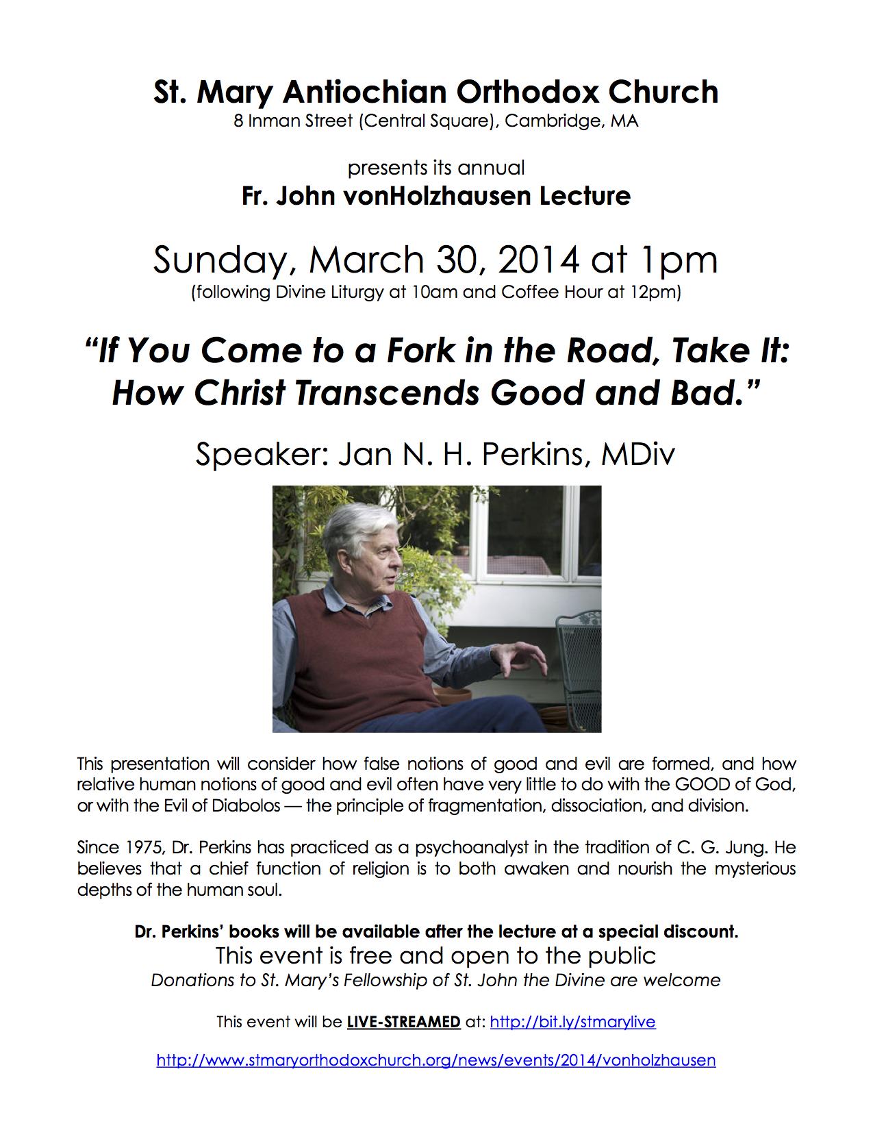 2014 vonHolzhausen Lecture