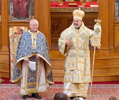 Fr. Antony with Bishop John